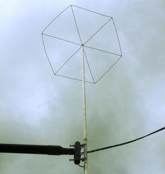 Frank's N4SPP Ham Radio home-built 80 40 20 meters short dipole antenna KGD kurz geratener dipol