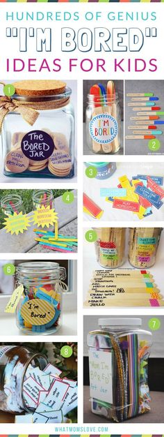 I'm Bored Jar Ideas For Kids | Boredom Busters to keep your kids occupied over the summer, school vacation breaks or when you're stuck inside. Plus more tips, tricks and hacks for an organized summer with your family! #ad