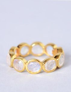Suki Moonstone ring.  Brit +Co  |  Kate Diamond Jewelry