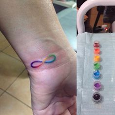 Infinity water color tattoo