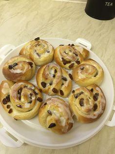 Almond sultana danish buns Buns, Doughnut, Danish, Almond, Baking, Desserts, Food, Tailgate Desserts, Deserts