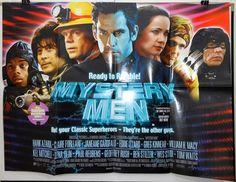 MYSTERY MEN - BEN STILLER / JANEANE GAROFALO - ORIGINAL UK QUAD MOVIE POSTER