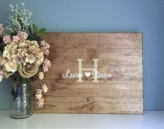 Rustic Wedding Guest Book Alternative /The by TheRusticEarth