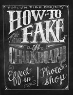 Tutorial on how to Fake a Chalkboard Effect in Photoshop by Foolish Fire