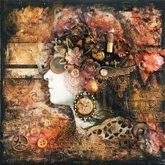 Artysta - The artist - collage by finnabair, via Flickr