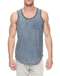 Festival season is here and the Striped Tank is the must have for every festival go-er this summer.  A muted indigo base broken up by white stripes...