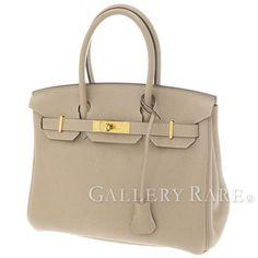 エルメス バーキン30 cm ハンドバッグ トゥルティエールグレー×ゴールド金具 トゴ P刻印 HERMES Birkin バッグ