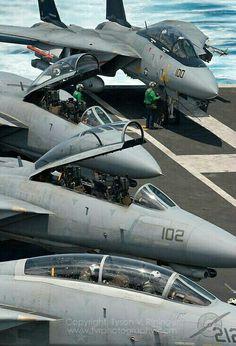 F-14 Tomcats the crew