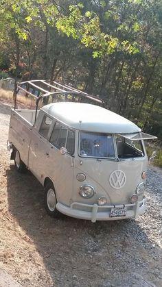 Grey Oregon VW Double Cab ☮ #VWBus #volkswagen bus pinned by  http://www.wfpblogs.com/author/thomas/