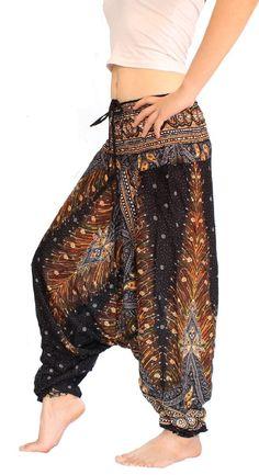 Banjamath Women's Peacock Print Aladdin Harem Hippie Pants Jumpsuit ** CHECK OUT @ http://www.getit4me.org/fashion100/1557/?381