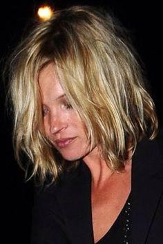 Kate Moss cheveux au carré