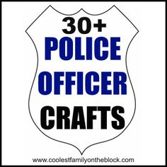 Police Officer Crafts for kids via @Jenn Rian (Coolest Family on the Block) #NationalPoliceWeek