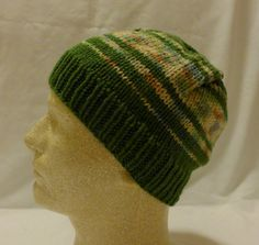 Forest Clearing  Med beanie in olive green and by PurlyShells808, $15.00