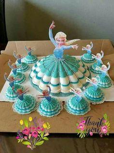 dessert diy thanksgiving crafts for kids - Kids Crafts Disney Princess Cupcakes, Princess Cupcake Toppers, Princess Cakes, Jelly Desserts, Kid Desserts, Disney Frozen Birthday, Frozen Party, Elsa Birthday Cake, Cake Decorating Videos