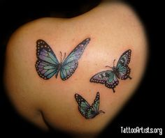 Want to tattoo a butterfly like these in my nature themed sleeve tattoo on my right leg.
