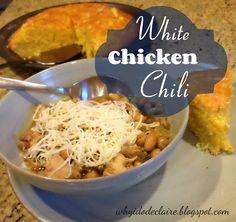 I do deClaire: White Chicken Chili