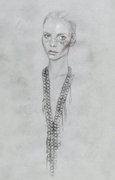 Cedric Rivrain wash out Art And Illustration, Paper Fashion, Fashion Art, Angular Face, Couture, Portraits, Illustrators, Needlework, Art Drawings