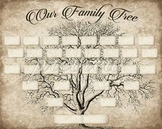 More than 100 family tree templates you can download and print for custom family tree printable 5 generation template instant download editable fillable pdf form genealogy print ancestry chart vintage saigontimesfo