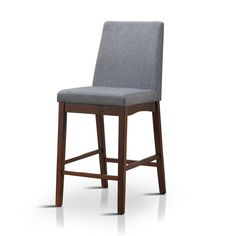 Furniture of America Tenor Mid-century Modern Grey Upholstered Counter Height Chair (Set of 2) | Overstock.com Shopping - The Best Deals on Bar Stools