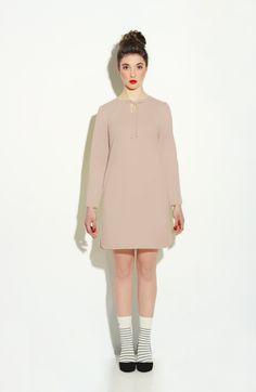 Beauty beige minimal midi dress, minimalistic fashion design- a unique product via en.dawanda.com