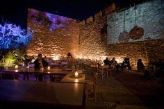 great place, next  to the Byzantine walls, .Es restaurant, Thessaloniki, Greece