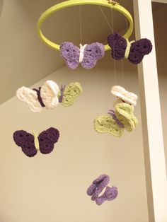 Butterfly Mobile (add some crochet hearts to this).  Or this for Kylie...