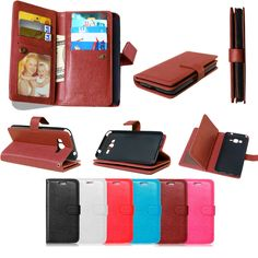 Wallet Case Cover for Samsung Galaxy Grand Prime G530 Case 9 Card Holder Soft Leather Flip Cover Case For G530 G531 G531F Bags