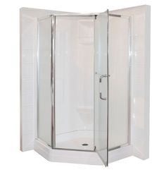 Malta Bath Contractor Neo Angle Pivot Shower Door (Base and Walls not Included) Home Depot, Tall Cabinet Storage, Locker Storage, Add A Bathroom, Washroom, Shower Doors, Angles, Armoire, Furniture
