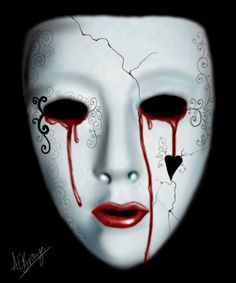 Crying behind the mask by anna-elizabeth.deviantart.com with Pin-It-Button on @deviantART