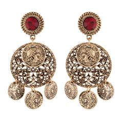 Shop now Trendy Oxide Gold... online at http://onestopfashion.in/products/trendy-oxide-gold-colour-alloy-ear-danglers-for-girls-and-women-30298?utm_campaign=social_autopilot&utm_source=pin&utm_medium=pin