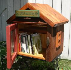free little library.  i love, love, love! this concept... will research it.