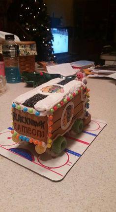Check out this gingerbread zamboni one of our fan's made! Blackhawks Hockey, Chicago Blackhawks, Holiday Fun, Holiday Ideas, Christmas Ideas, Ice Car, Hockey Cakes, Hockey Wedding, Team Snacks