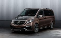 The Russian tuner TOPCAR donated the Mercedes V-Class the Inferno Bodykit and a new interior. Mercedes Benz Vito, Mercedes Van, Class 2017, Big Van, Upcoming Cars, Van Car, Lux Cars, Porsche Panamera, Bmw M4