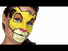 Simba Face Painting Tutorial - YouTube