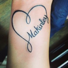 infinity tattoo with name - Google Search