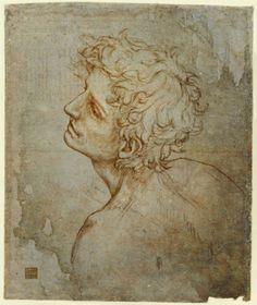 Leonard de Vinci - Renaissance - Drawing Study - Self Portrait. (The Fioravanti Folio) Renaissance Kunst, High Renaissance, Life Drawing, Figure Drawing, Grisaille, Pierre Auguste Renoir, Old Master, Pablo Picasso, Art History