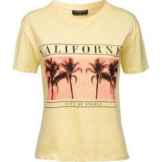 Shirt mit Palmenprint - Lässiges gelbes Shirt von Sally & Circle. Das legere Design und der Print geben dem Style einen coolen Vintage-Look. - ab 11,90€