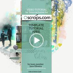 Create an Artsy Scrapbook Layout with a Traditional Template Video Tutorial- Jana Oliveira for OScraps- Our new video tutorial has the goal to show you how to use simple, traditional, and clean templates with some mix of products.