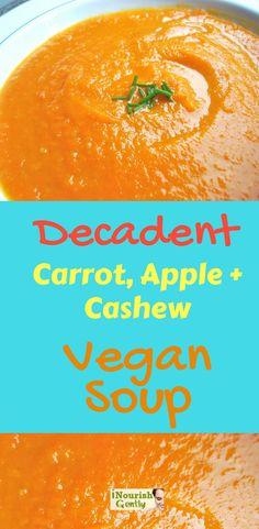 Delicious creamy vegan soup suitable for any season! #creamy #vegan #soup