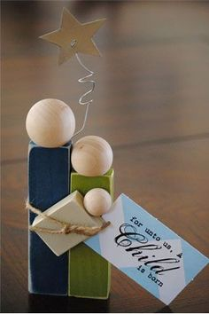 Dream It: Nativity Blocks only $1.50 for unfinished blocks....great neighbor gift idea