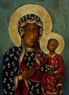 Al tercer golpe con la espada, el Rostro de la Virgen María empezó a Sangrar y el hombre cayó muerto al suelo.