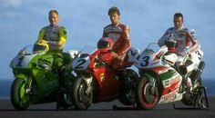 #1 Russell #2 Fogarty #3 Slight Ducati Desmo, Ducati 916, Biker Photography, Old Bikes, Cars And Motorcycles, Motorbikes, Honda, Racing, Bikers