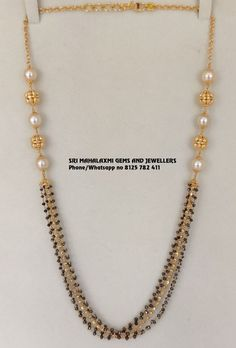 Pearl Necklace Designs, Jewelry Design Earrings, Gold Earrings Designs, Gold Jewelry, 1 Gram Gold Jewellery, Gold Pendants For Men, Gold Chain With Pendant, Antique Jewellery Designs, Indian Gold Jewellery Design