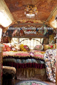 This is probably the most romantic Airstream trailer you will ever see - Living in a shoebox Bohemian Bedroom Design, Bohemian Decor, Gypsy Decor, Bedroom Designs, Boho Chic, Romantic Homes, Most Romantic, Gypsy Living, Rv Living