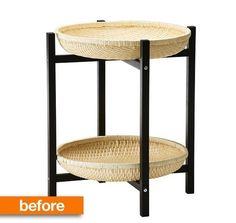 Before & After: IKEA Tray Table to Double-Decker Cat Bed. AH!  My cats would be sooo pleased!