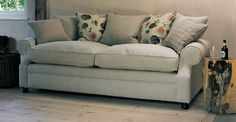 Limerick Sofa - duck feather.  Sofa Workshop.  With cushion back as opposed to scatter cushions.