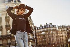 //jacket- claudie pierlot/ tshirt vanessa seward/jeans sandro