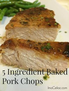 Simple recipe to make baked pork chops #glutenfree