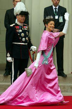 Guests at the Danish royal wedding.