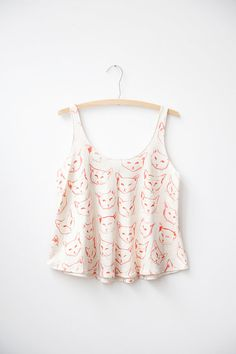 Red Cat Tank by leahgoren on Etsy, $85.00